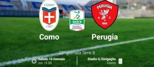Como-Perugia, 22^ giornata di Serie B