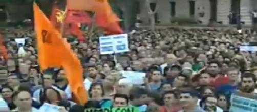 Se colmó la Plaza de Mayo por VHM TeleSur