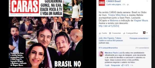 Capa de Caras - Foto/Reprodução: Facebook