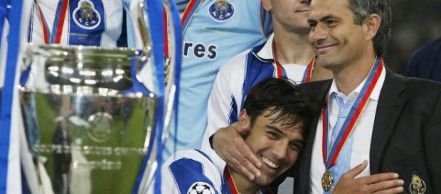 José Mourinho na grande conquista pelo FC Porto