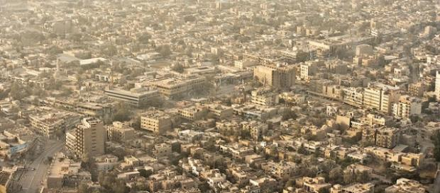 La città di Baghdad vista dall'alto.