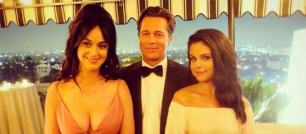 Selena Gomez curtiu festa ao lado de Katy Perry