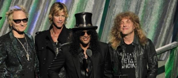 Slash, Duff, Matt Sorum y Steven Adler