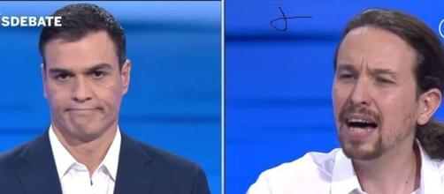 Ambo en un cruce de acusaciones en un debate.
