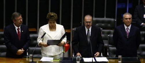 Dilma é empossada na presidência. da República.