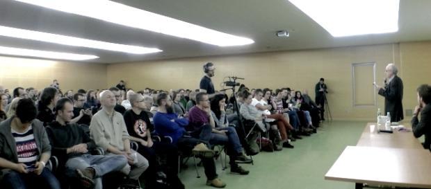 """Członkowie partii """"Razem"""" na wykładzie Davida Osta"""