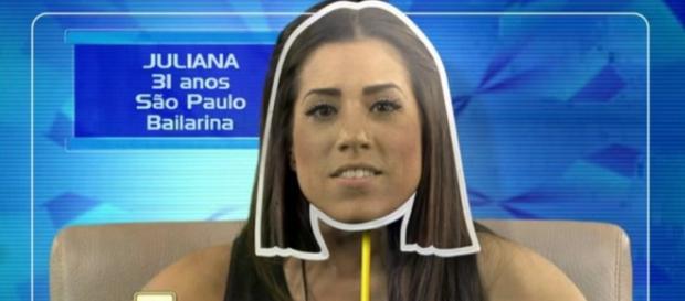 Juliana no BBB 16 - Foto/Reprodução: Globo