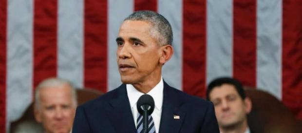 Obama durante lo State of Union Address