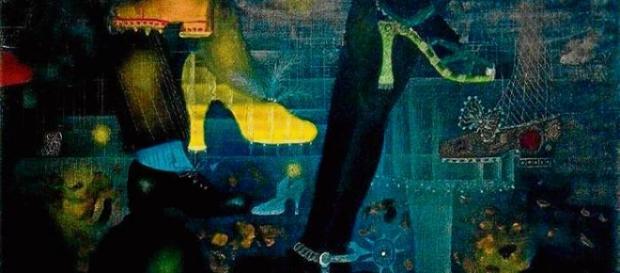 Pintura del artísta Tapies....