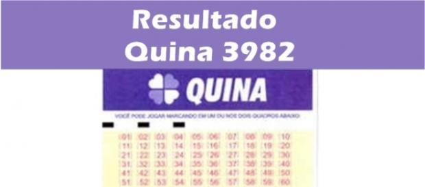 Resultado do jogo da Quina 3982