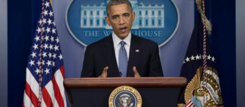 B.Obama presidente in carica degli Stati Uniti.