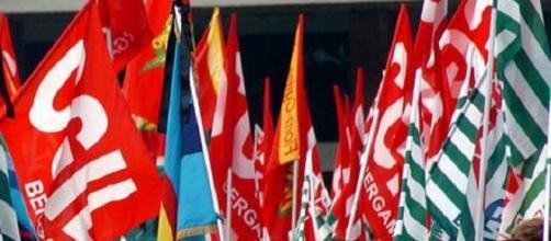 Bandiere dei maggiori sindacati italiani