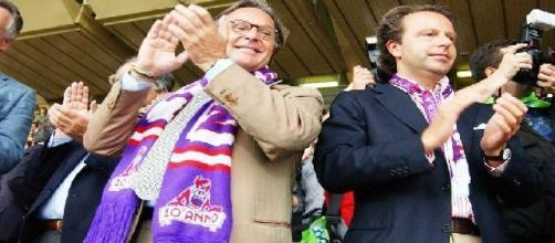 Diego e Andrea Della Valle patron della Fiorentina