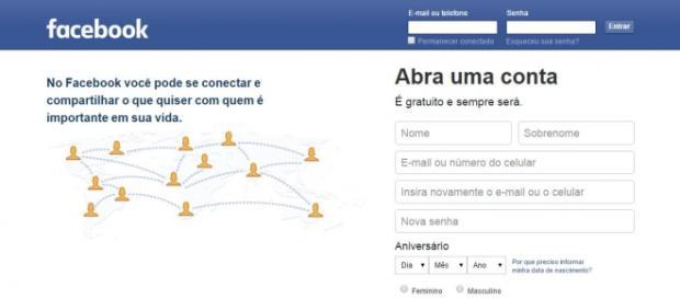 Facebook faz sucesso no Brasil