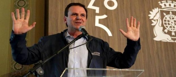O prefeito do Rio de Janeiro Eduardo Paes