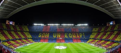 Espectacular mosaico en el Camp Nou