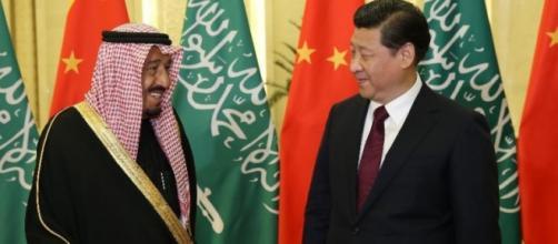Il re Al Saud e il premier Xi Jinping