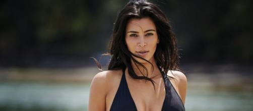 Kim luce espectacular después del embarazo
