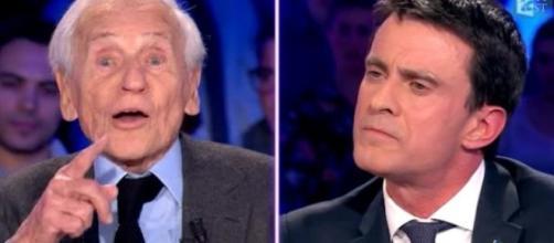 Manuel Valls et Jean d'Ormesson