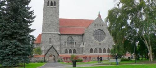 Una chiesa luterana in Finlandia