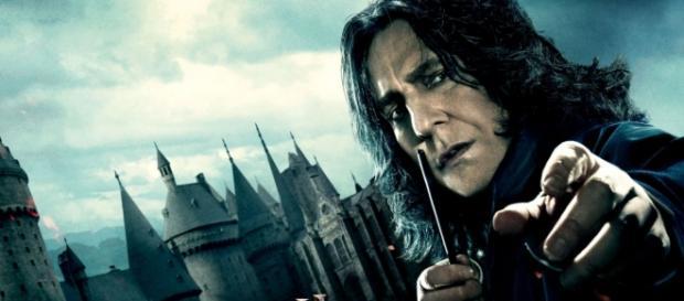 Alan como el profesor Severus Snape