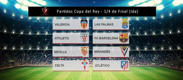 Enfrentamientos de cuartos de Copa del Rey