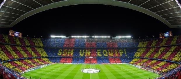 Espectacular mosaico en el Camp Nou