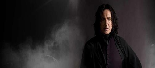 Alan Rickman caracterizado como el profesor Snape