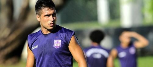 L'attaccante uruguagio Jaime Báez