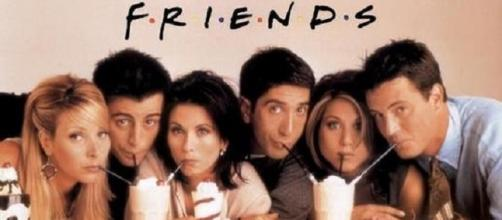 Perry (right) unable to join fellow 'Friends'