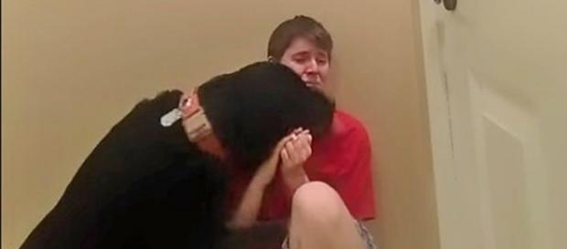 Danielle and her dog, Samson/youtube