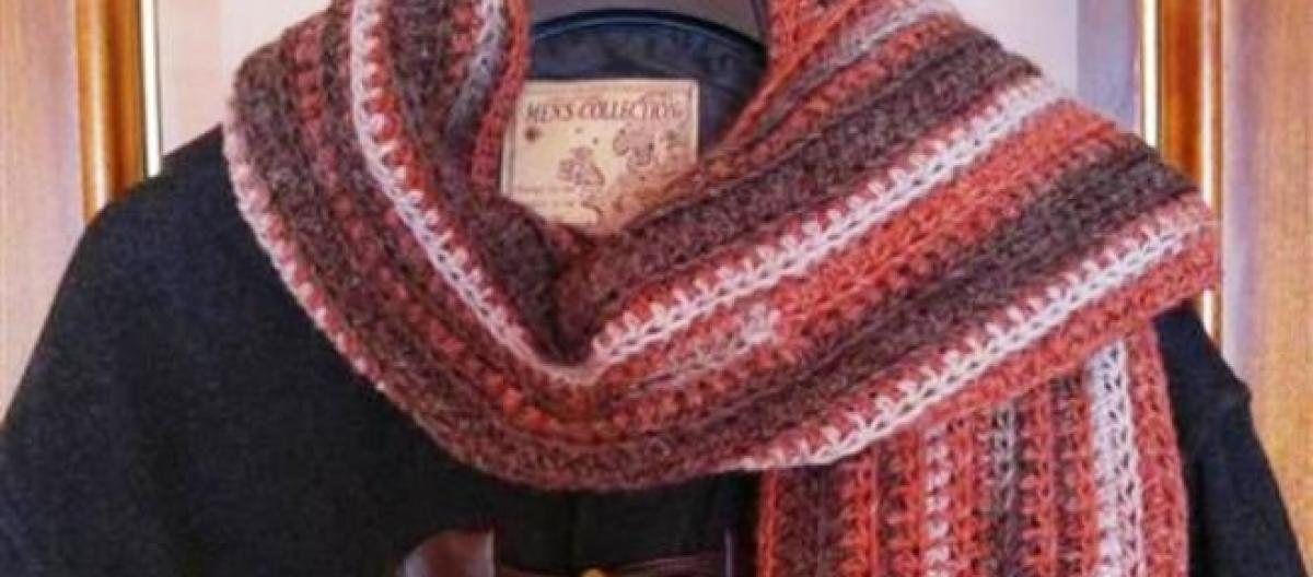 Tutorial: cómo tejer una bufanda a crochet para hombre