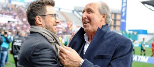 I due allenatori Di Francesco e Ventura
