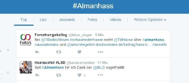 #almanhass erfreut sich großer Beliebtheit.