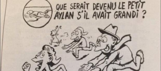 Charge publicada pelo Charlie Hebdo
