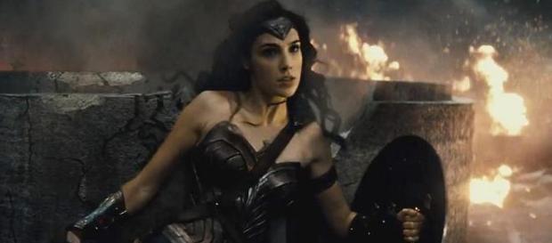 Gal Gadot en el rodaje de 'Wonder Woman'.
