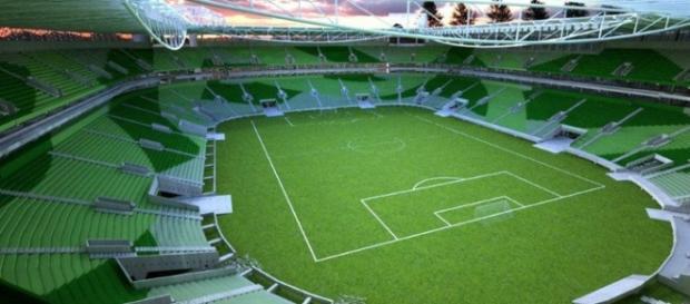 Projeto Allianz Parque antes de ser construído