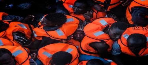 Imagen de una barcaza. Cedida por MSF