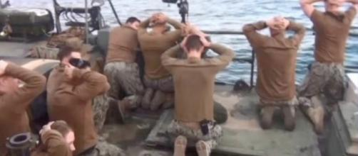 Marinos de USA capturados por Irán.