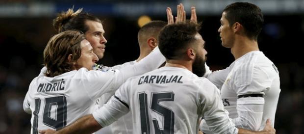 El Real Madrid, celebrando un gol esta temporada
