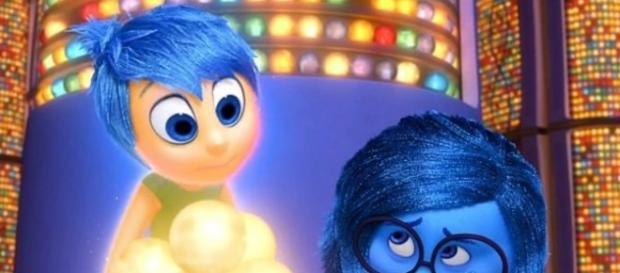 Alegría y tristeza en Inside Out. Foto de Pixar