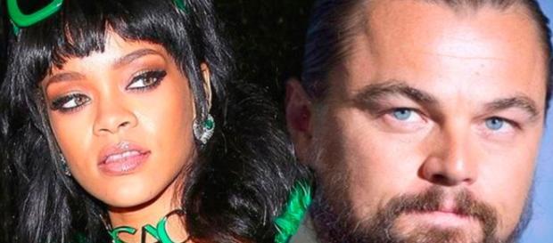 Leonardo e Rihanna - Foto/Montagem