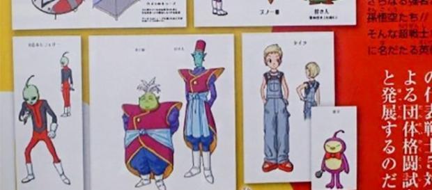 Los Kaio Shin del univero 6 y mas personajes