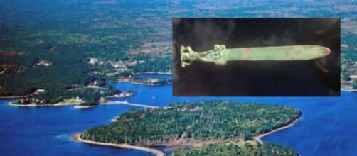 Espada romana encontrada no Canadá.
