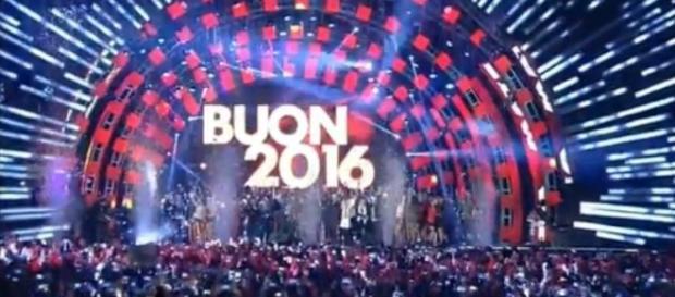 L'arrivo del 2016 su Rai Uno .