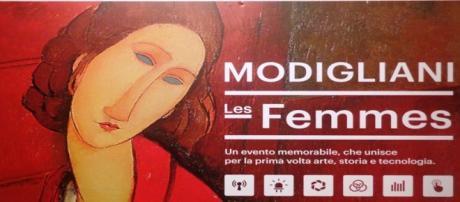 Il pannello introduttivo della mostra di Arezzo.