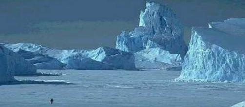 Un canyon tra i ghiacci in Antartide
