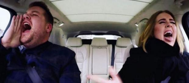 Escenas del video del carpool Karaoke
