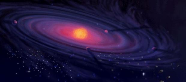 Illustrazione del sistema solare artistica (NASA)