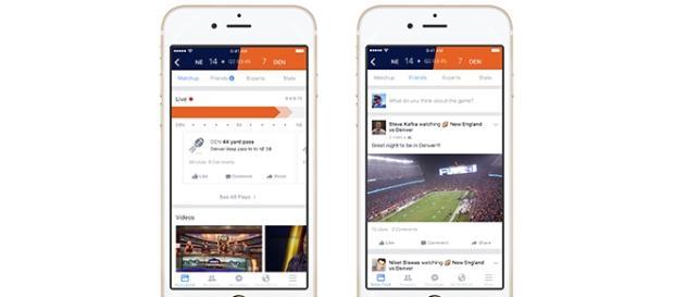 Interfaz Facebook Sport Stadium